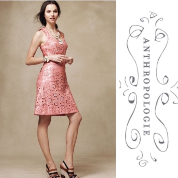 7573c2f367d0 Anthropologie Dresses | Nwt Coral Eyelet Dress By Maeve | Poshmark